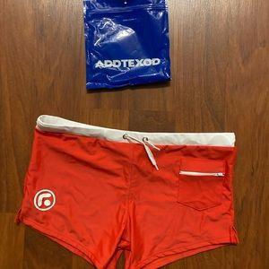 3/20 NWT Addtexod men's red short swim trunks XL